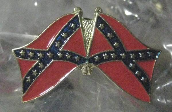 Double Confederate Flag Pin