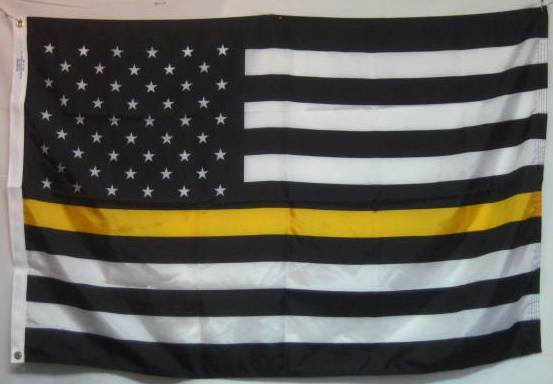 Police Thin Gold Line Flag Stars and Stripes 1cf21e463f9