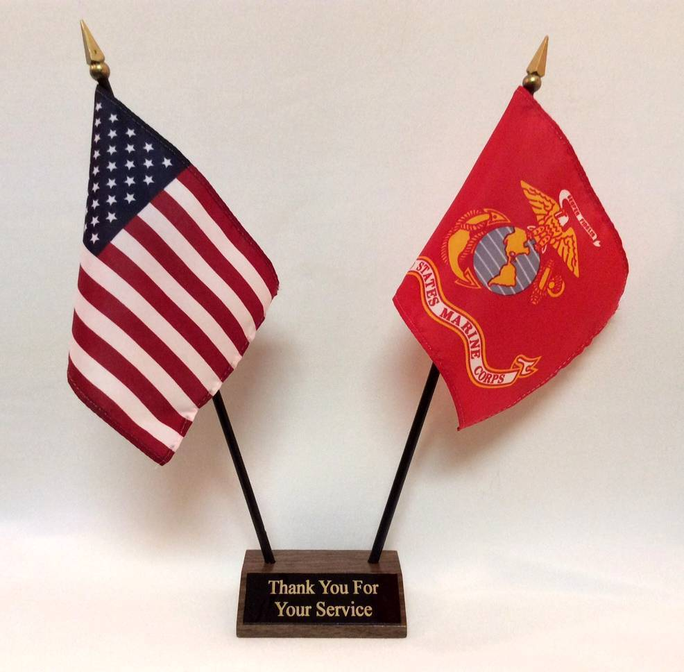 with Stand or Without Stand U.S Marine Military Desk Table Flag 4 x 6